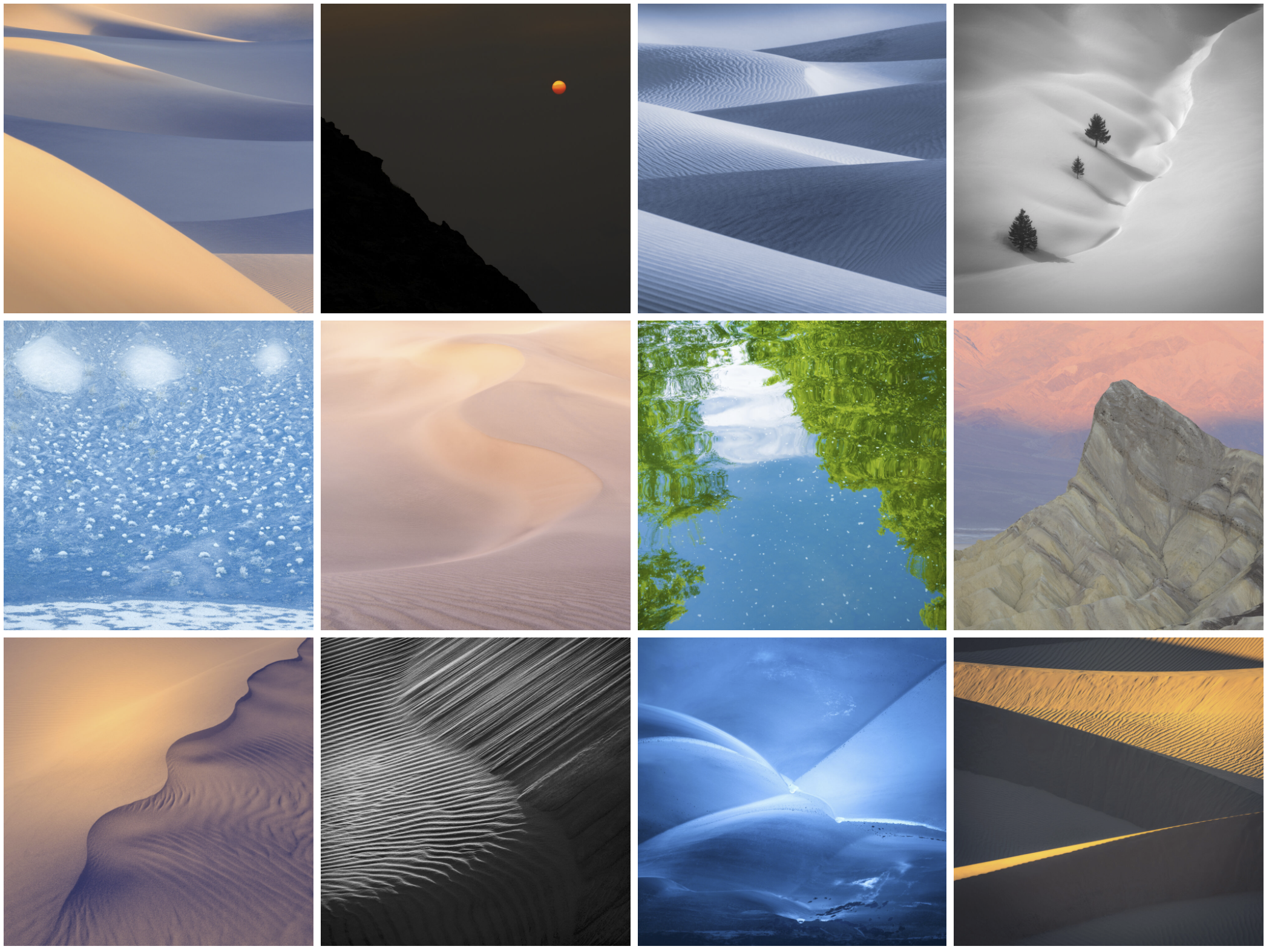 An overview of different images from my portfolio Meraki